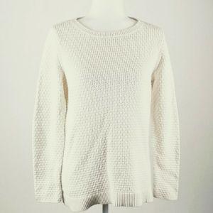 Loft  cream color textured sweater size medium